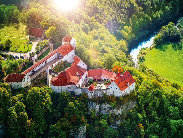 Who wants to live in a castle? Burg Wildenstein Youth Hostel sits on a rock high above the Danube, about 2 km outside the municipality of Leibertingen.